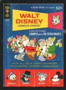 Walt Disney Comics Digest #24 1970-Donald Duck-Peter Pan-Thumper-Zorro-Alex T...
