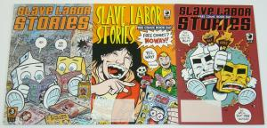 Slave Labor Stories #1-3 VF/NM complete series - milke & cheese - bill & ted set