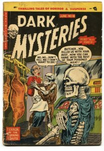 DARK MYSTERIES #18 comic book 1954 PRE-CODE HORROR-SKELETON-HY FLEISHMAN