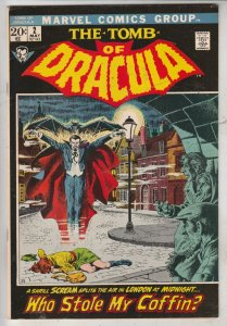 Tomb of Dracula #2 (May-71) FN/VF+ High-Grade Dracula