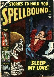 SPELLBOUND #18-1953-MARS ATTACKS-ATOMIC BOMB-ZOMBIETERROR & PRE CODE HORROR-RARE