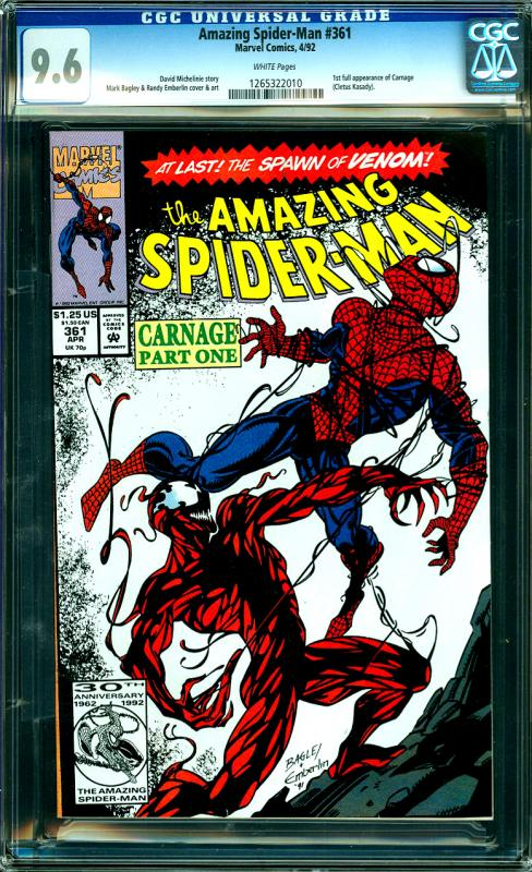 Amazing Spider-Man #361 Carnage 1st Full Appearance
