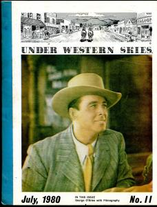 Under Western Skies #11 7/1980-George O'Brien-B-Westerns-VG
