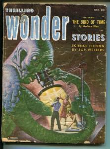 THRILLING WONDER STORIES 10/1952-SCI-FI PULP-EARLE BERGEY-RATIGAN-fr