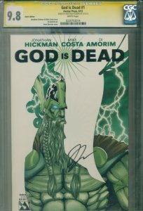 God Is Dead#1 CGC SS 9.8 Iconic Edition Variant Cover Signed by JONATHAN HICKMAN