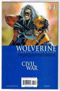 WOLVERINE #44, NM-, X-men, 1st printing, Civil War, 2003, more in store