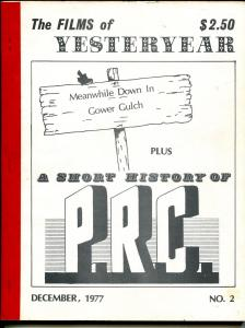 Films of Yesterday #2 12/1977-P.R.C. Pictures-VG