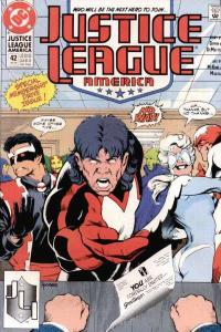 Justice League (1987 series) #42, VF- (Stock photo)