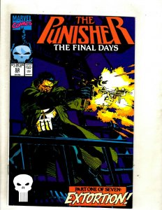 Lot Of 7 Punisher Marvel Comic Books # 53 54 55 56 57 58 59 Defenders Spider HJ9