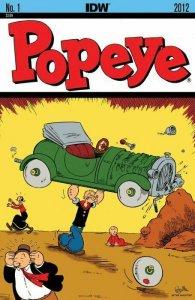 POPEYE #1 SET OF 4 COVERS REGULAR.RETAILER SUMMIT, RI & COVER B IDW NM