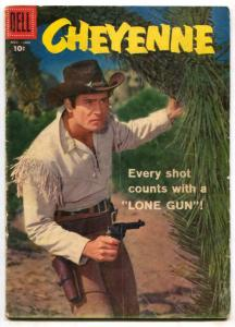 Cheyenne #5 1958- Dell Western- Clint Walker VG-