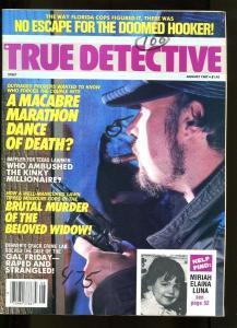 TRUE DETECTIVE-AUG 1987-VG-HARD BOILED-SPICY-MURDER-RAPE-STRANGULATION VG
