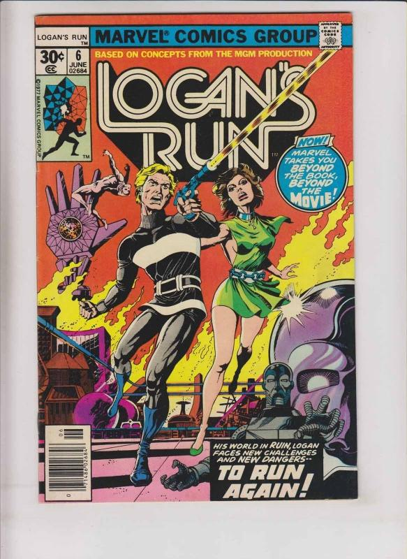 Logan's Run #6 FN/VF early thanos back-up story - mike zeck art - bronze age
