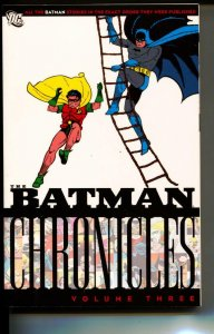 Batman Chronicles Volume 3 TPB trade