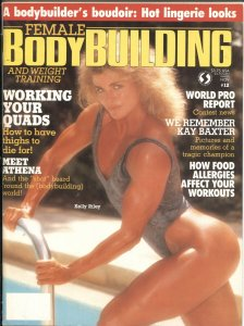 Female Bodybuilding #12--11/1988-KELLY RILEY COVER &  CENTERFOLD-KAY BAXTER T...