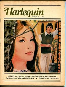Harlequin Vol. 5 #3 1977-romantic pulp fiction-based on paperback books-G/VG