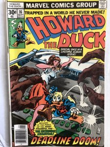 Howard the Duck #16, VG, more Dr. Bong! TDF 9!