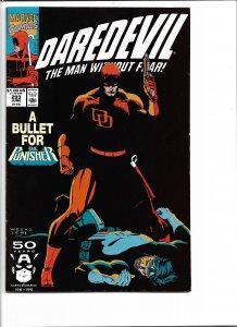 Daredevil #293 (1991) VF-NM   Punisher Crossover