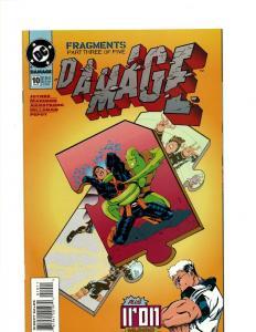 Lot Of 9 Damage DC Comic Books # 10 9 8 7 0 5 4 3 2 Batman Superman Flash J394