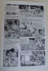 DON LOMAX Original Art, Vietnam Journal #8 pg 15, Brain Dead Horror,Caliber,2011