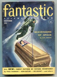 Fantastic Science-Fiction October 1955- Scavengers of Space VG