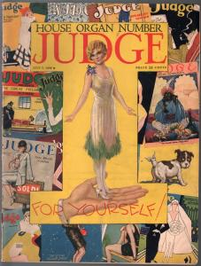Judge 7/7/1928-classic cover-cartoon and comic art-VG