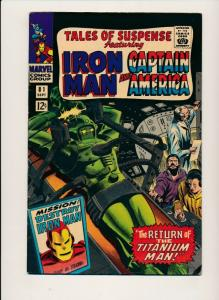 MARVEL TALES OF SUSPENSE ft. IRON MAN & CAPTAIN AMERICA #81 F+  (PF703)