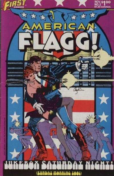 American Flagg! #2, NM- (Stock photo)
