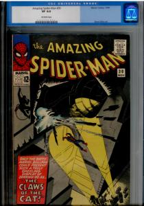 Amazing Spider-Man  #30 CGC 8.0 Off-WHITE pages; 1st app of The Cat