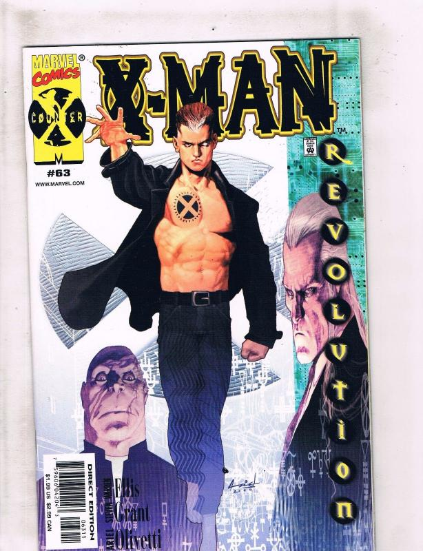 Lot of 9 X-Man Marvel Comic Books #63 64 65 67 68 72 74 75 +Annual '96 DC4