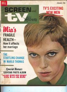 Screen And TV-Mia Farrow-Monkees-Michael Caine-Patty Duke-Jan-1968