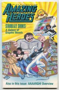 Amazing Heroes #127 1987- Starblaze-fanzine VF