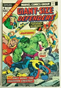 GIANT-SIZE DEFENDERS#4 VG/FN 1975 MARVEL BRONZE AGE COMICS
