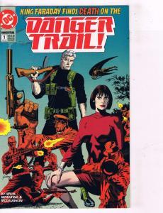 Lot of 4 Danger Trail DC Comic Books # 1 2 3 4 Super Heroes AD40