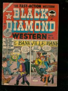 BLACK DIAMOND WESTERN #44 1953-SECRET IDENTITY COWBOY   VG