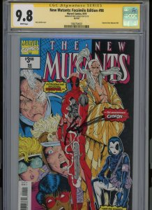New Mutants 98 Facsimile SIGNED ROB LIEFIELD CGC 9.8