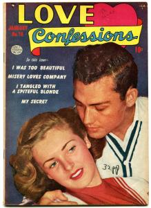 Love Confessions #16 1952- Golden Age Romance- Misery Loves Company VF-