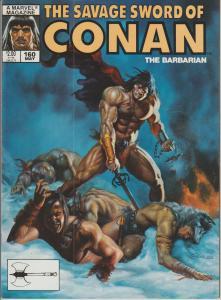 The Savage Sword of Conan the Barbarian #160 - Magazine