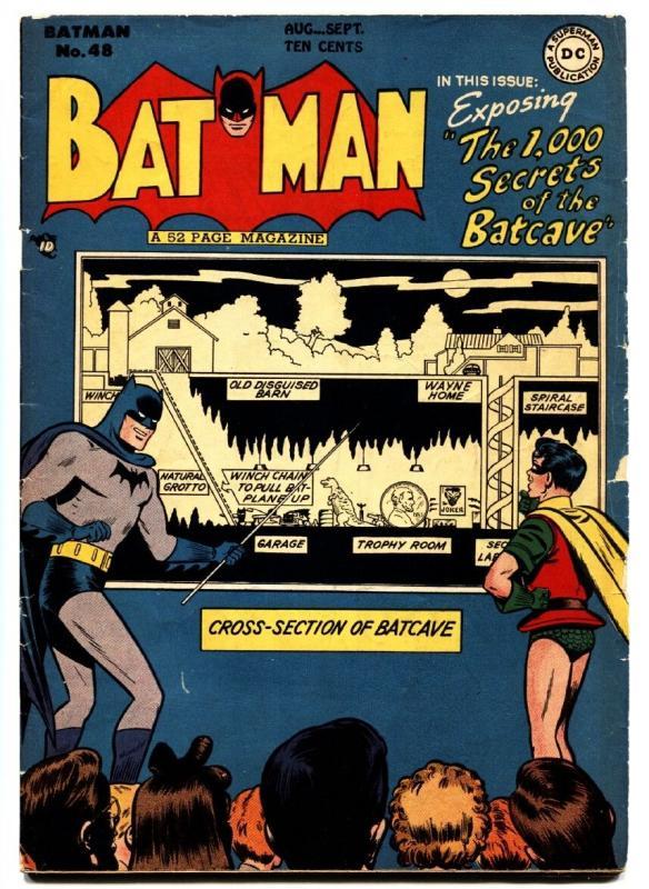 Batman #48-1,000 secrets of the batcave-DC Golden-Age COMIC BOOK