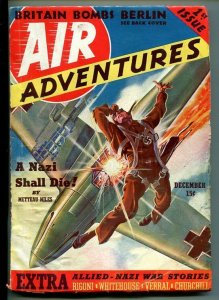 AIR ADVENTURES-#1-DEC 1939-AVIATION EXPLOSION-SOUTHERN STATES PEDIGREE-fn-