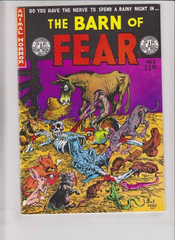 Barn of Fear #1 VF/NM animal horror - doug moench - scott shaw - tom sutton 1978