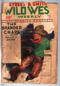 WILD WEST WEEKLY-11/12/1932-PULP-BRANDED CHAPS P/FR