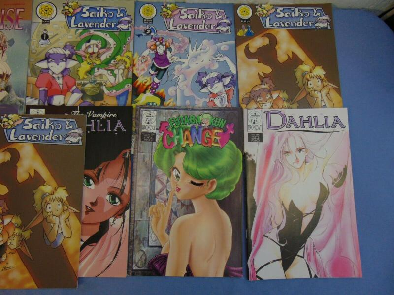 29 English Manga Comic Books Dahlia Saiko Lavender Sailor Moon Angel's Wing MINT
