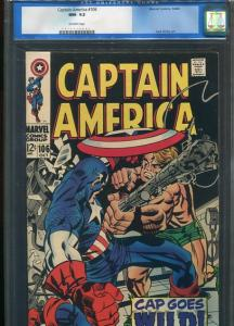 CAPTAIN AMERICA  #106  CGC 9.2  (NM-) OW PAGES HIGH GRADE BEAUTY