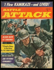 BATTLE ATTACK #1 MARCH 1957-BILKO-BLOOD BATH-KAMIKAZE VF