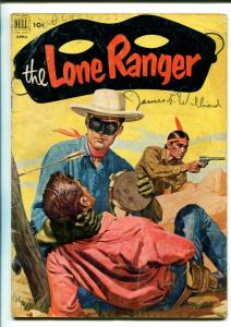 LONE RANGER #46-1952-DELL-WESTERN-RADIO-TV-SECRET IDENTITY-THRILLS-good