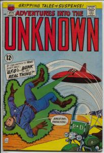 Adventures Into The Unknown #174 1967-final issue-UFO-motorcycle-FN