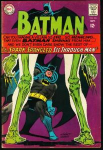 BATMAN #195-1967-DC-very good VG