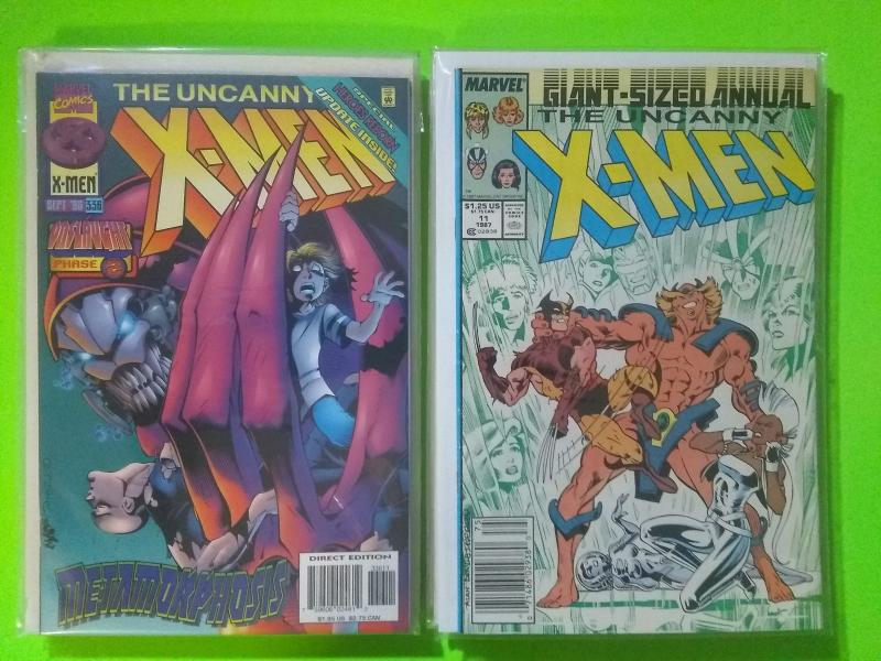 UNCANNY X-MEN 100 Comics: Between #s 184 To #341 + Annuals  FREE SHIPPING