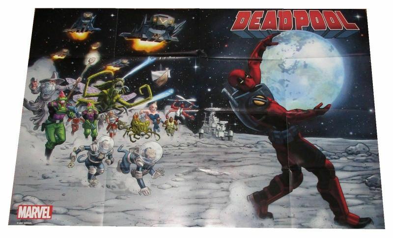 Deadpool Moon Folded Promo Poster Marvel 2017 (24 x 36) New!